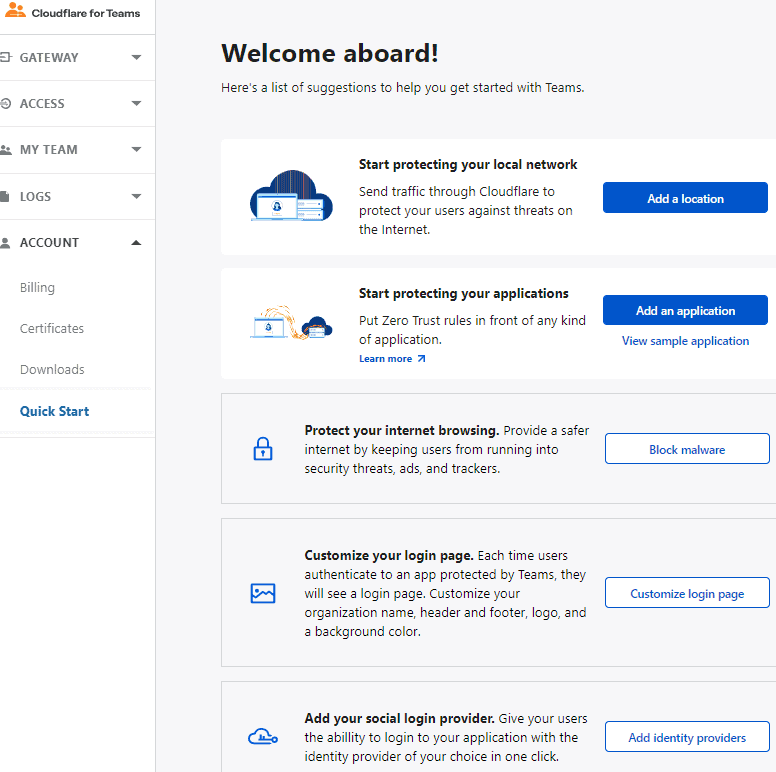 Cloudflare For Teams onboarded
